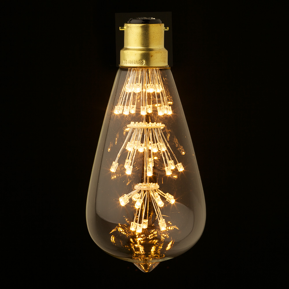 3 Watt Vintage Led Teardrop Bulb on electric lamp
