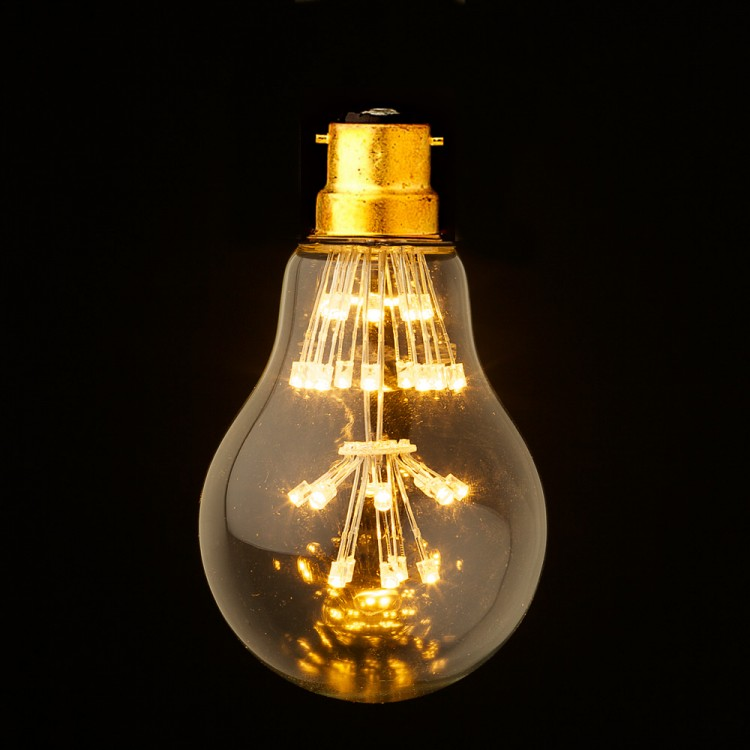 3 watt vintage led clear round bulb. Black Bedroom Furniture Sets. Home Design Ideas