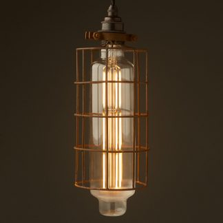 Wide tube cage pendant