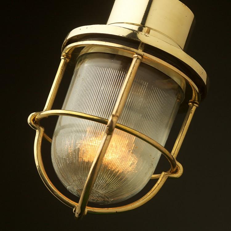 Adjustable Ships caged glass ceiling light