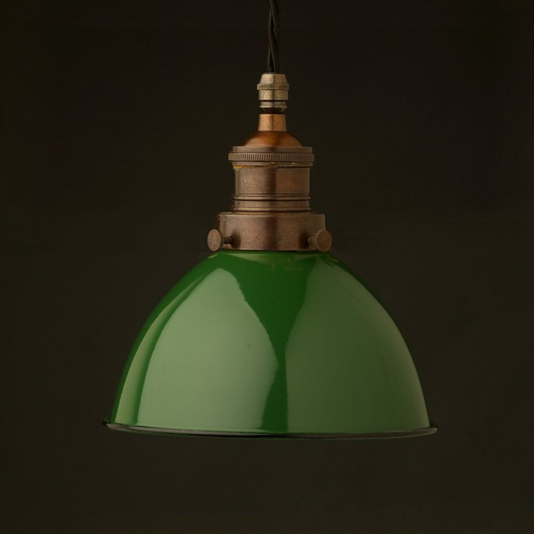 Multi option Metal shade cast bronze brass gallery pendant