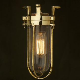 Fixed Ships caged glass ceiling light