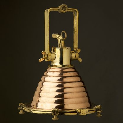 Medium Vintage Brass ships deck light