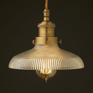 Multi option Glass shade cast brass gallery pendant