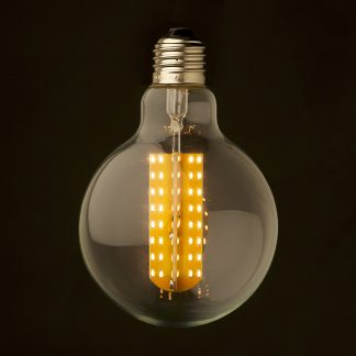 3 Watt Dimmable LED E27 Clear 95mm round bulb