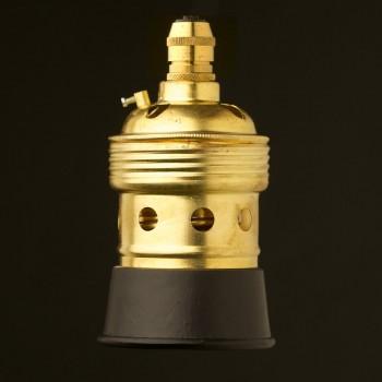 Brass-Black-E40-lampholder