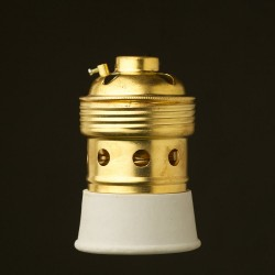 Brass-E40-lampholder-Threaded-entry