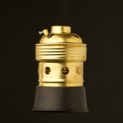 Brass-black-E40-lampholder-Threaded-entry