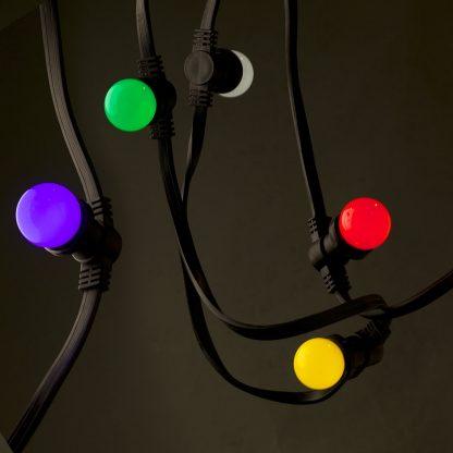 24V Fancy round .5W LED colored Festoon bulb