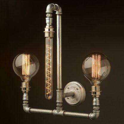 Plumbing Pipe Wall Lamp E27 3 lights