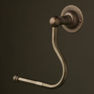 Bronze toilet roll holder