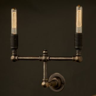 Vintage candelabra wall twin tube light
