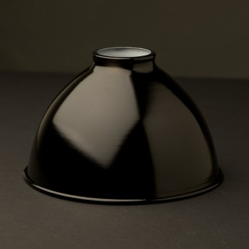 Black-dome-enamelled-shade