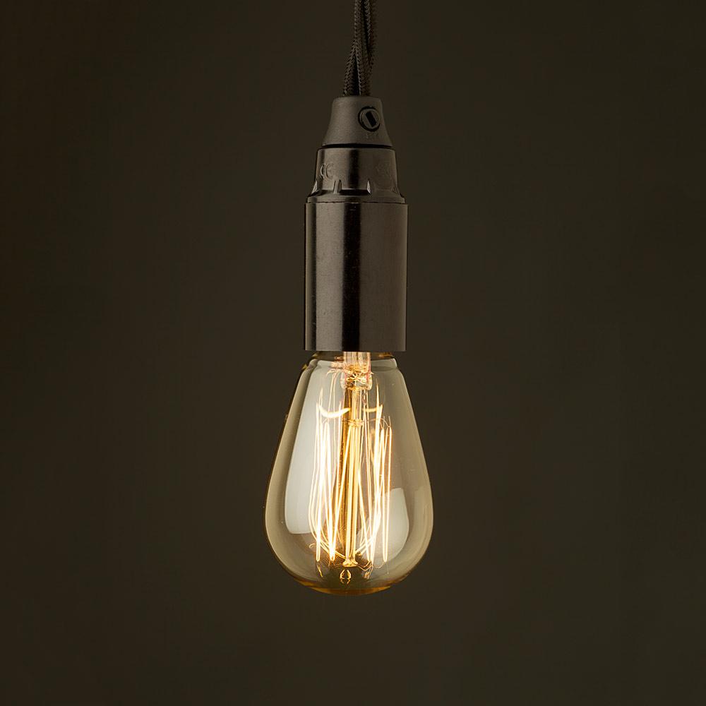 E14 light bulb and Bakelite fitting