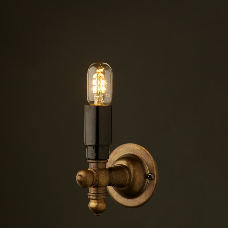 Vintage Brass Wall Candle Light
