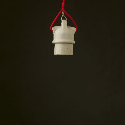 Edison style light bulb E27 White Porcelain industrial fitting