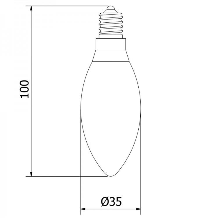 Vintage Small Church candle filament bulb E14