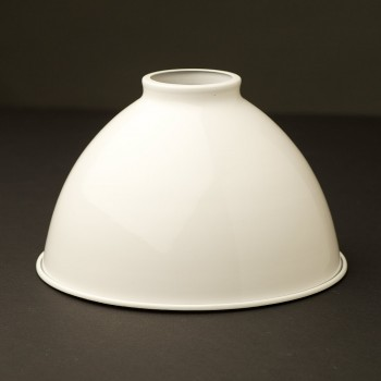 White-dome-enamelled-shade