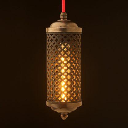 Edison bronze cage lantern pendant