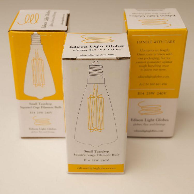 Vintage Small Edison Teardrop filament bulb E14
