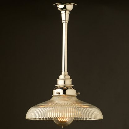 Single Rod Nickel lamp pendant