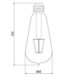 3-Watt-Dimmable-Filament-LED-E27-Clear-Edison-bulb