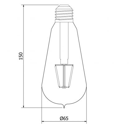 3.5 Watt Dimmable Filament LED E27 Clear Edison bulb