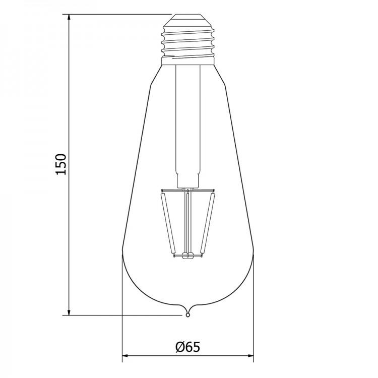 3.5 Watt Dimmable Filament LED E27 Clear Edison bulb
