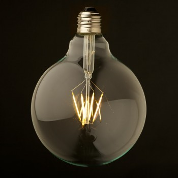 3.5 Watt Dimmable Filament LED E27 Clear 125mm Round Bulb