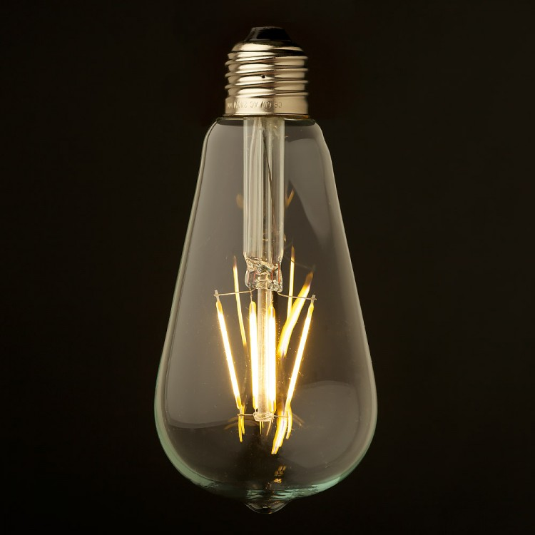 3 5 watt dimmable filament led e27 clear edison bulb. Black Bedroom Furniture Sets. Home Design Ideas