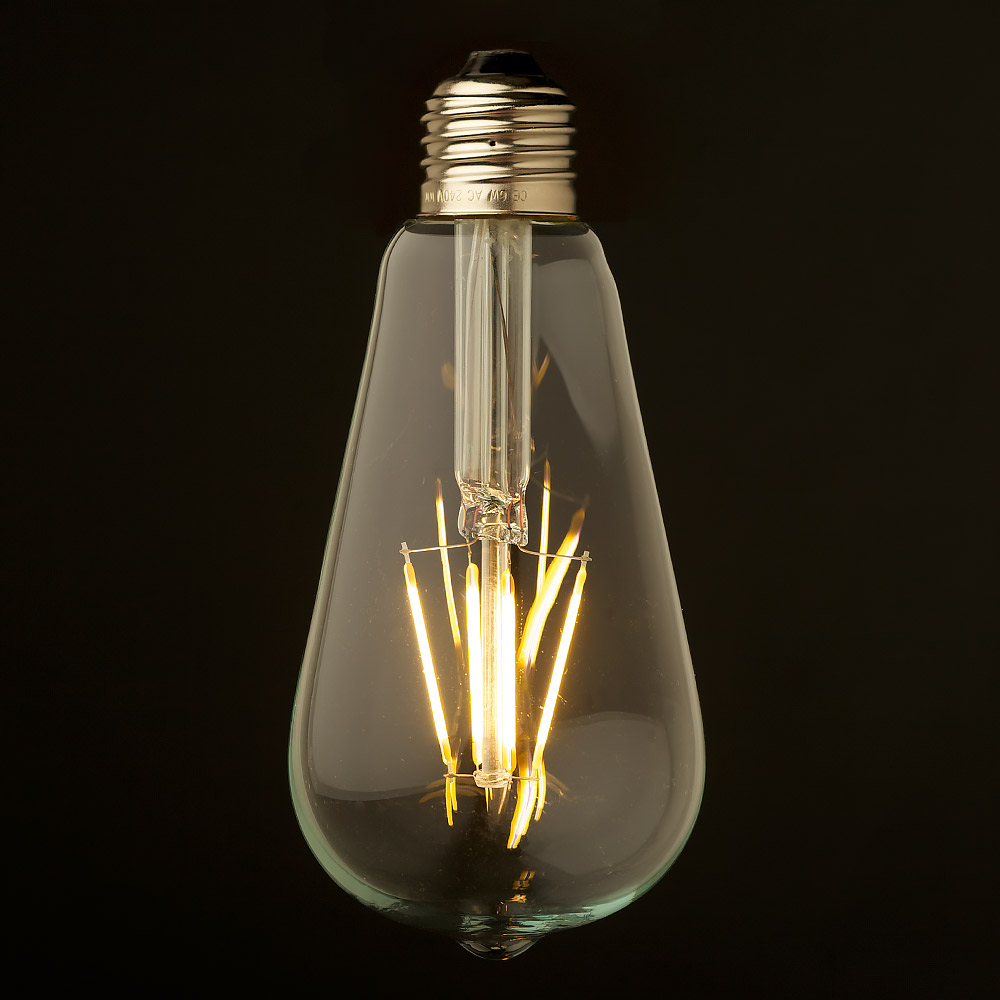 35 Watt Dimmable Filament LED E27 Clear Edison Bulb