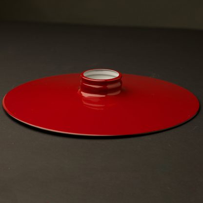 Red 10 inch Flat Light Shade