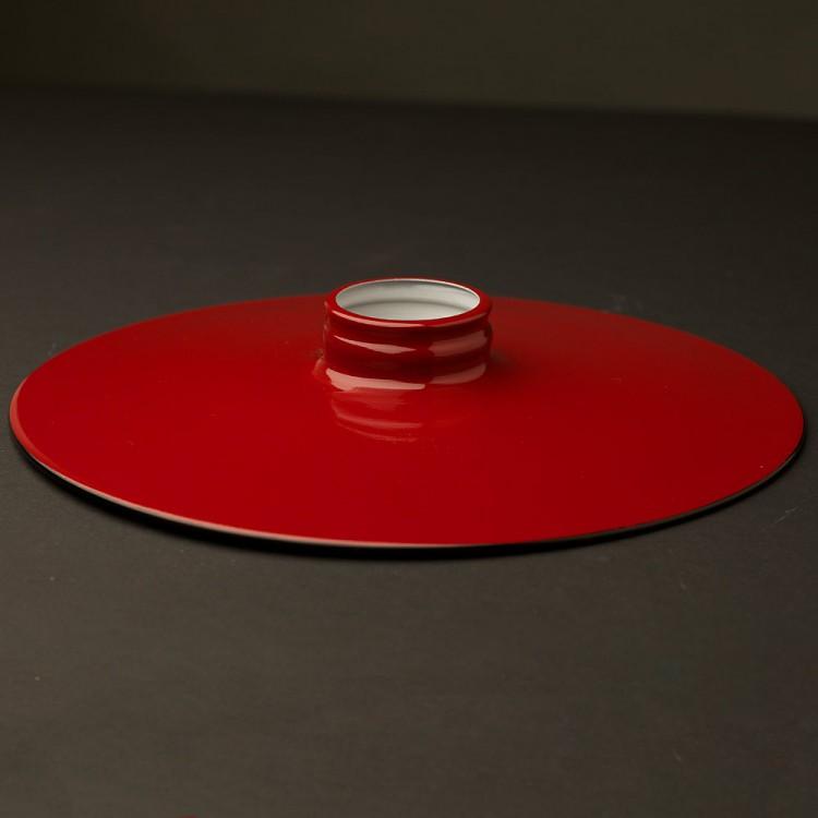Red 10 inch Flat Light Shade