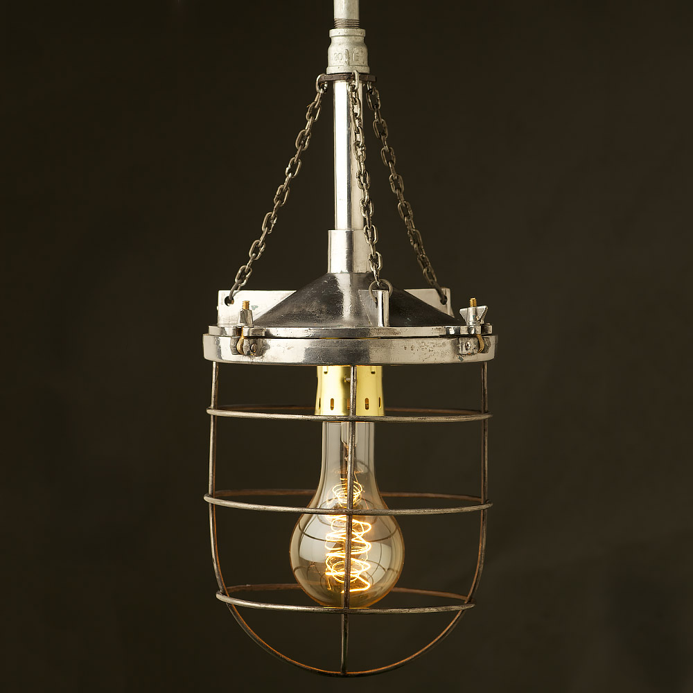 14 In Single Shade White And Silver Hanging Lamp Global: 10 Inch Aluminum Explosion Proof Pendant Light • Edison