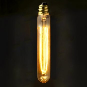 Vintage Edison Medium Tube Filament Bulb E27