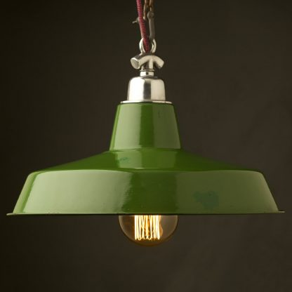 450mm Vintage Green Enamel Factory shade