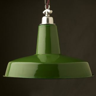 470mm Vintage Green Enamel Factory shade