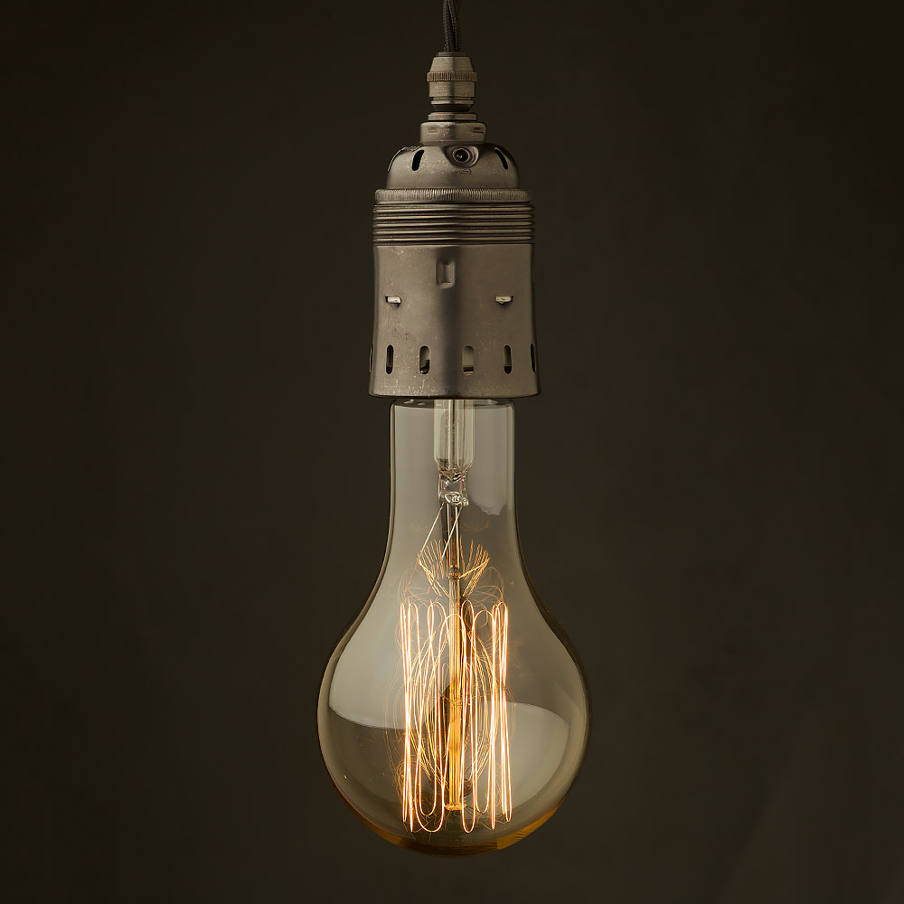 Edison Style Light Bulb And E40 Bronze Pendant