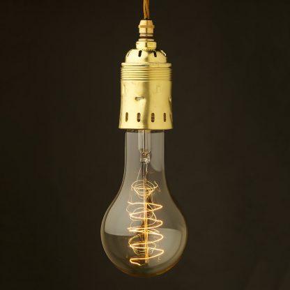 Edison style light bulb E40 New Brass pendant