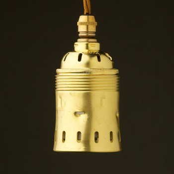 Heavy Brass Lampholder Edison E40 fitting