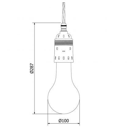 Edison style light bulb E40 Antiqued Brass pendant
