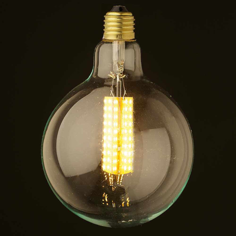 6 watt dimmable led e27 clear 125mm round bulb. Black Bedroom Furniture Sets. Home Design Ideas