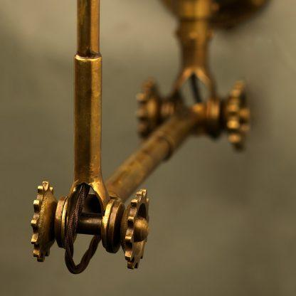 Adjustable Brass Wall Lamp Shade adjustment knobs