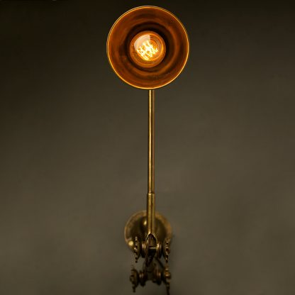 Adjustable Brass Wall Lamp Shade end