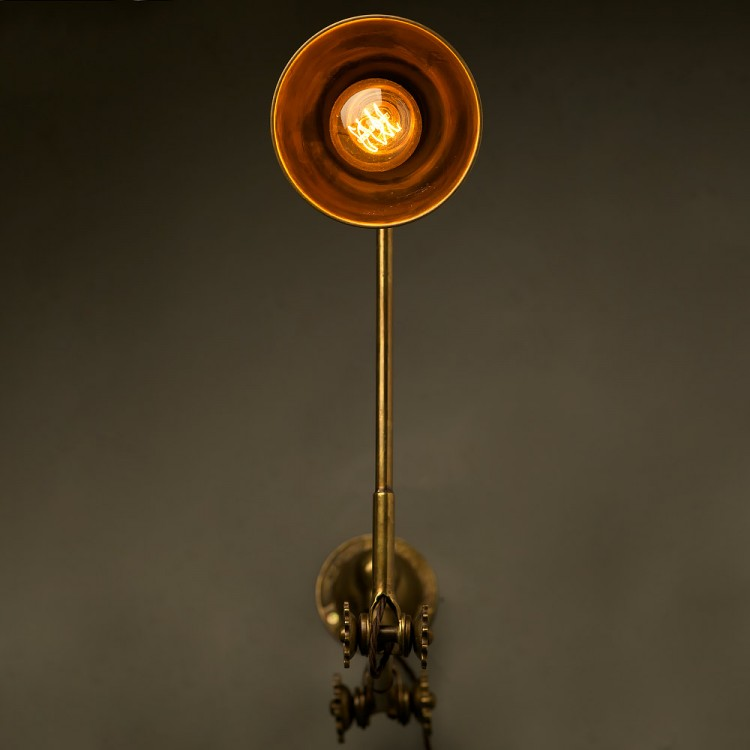 Adjustable Brass Wall Lamp Shade