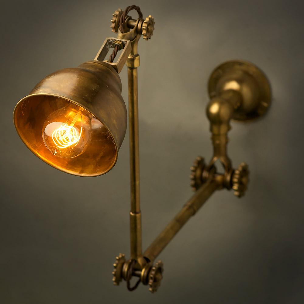Brass wall lamp shade adjustable brass wall lamp shade aloadofball Images