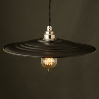 RAF Barracks Shade Brass E27 Pendant