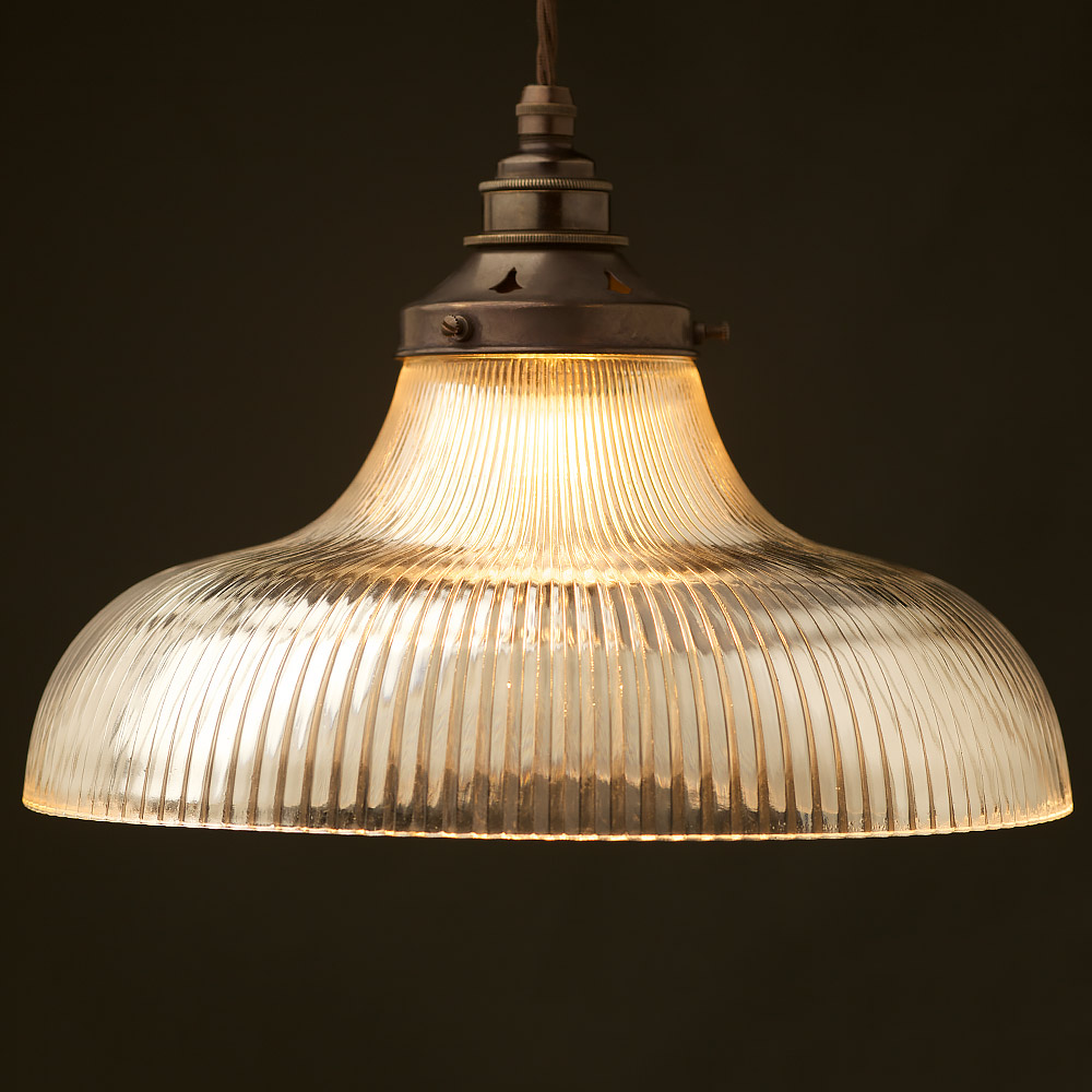 Large holophane glass dish light shade pendant mozeypictures Image collections