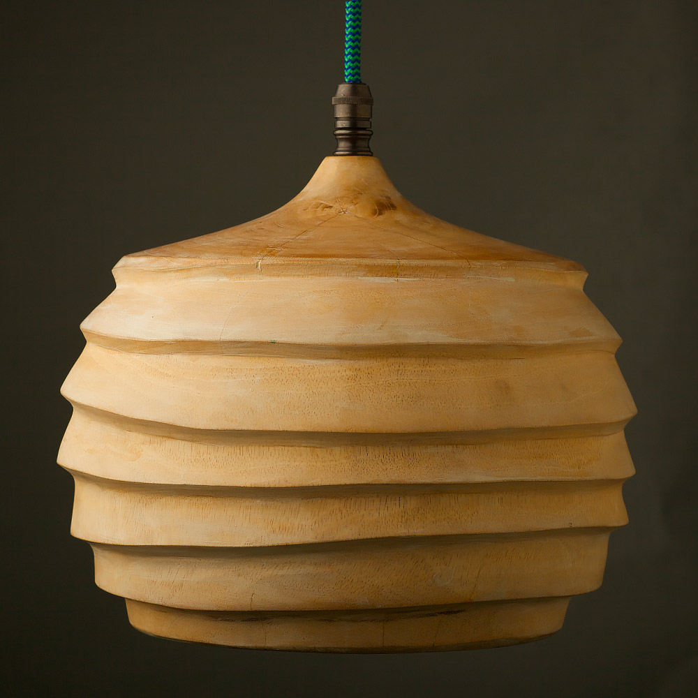 Hanging Light Fittings Wholesale: Mango Wood E27 Lampholder Pendant