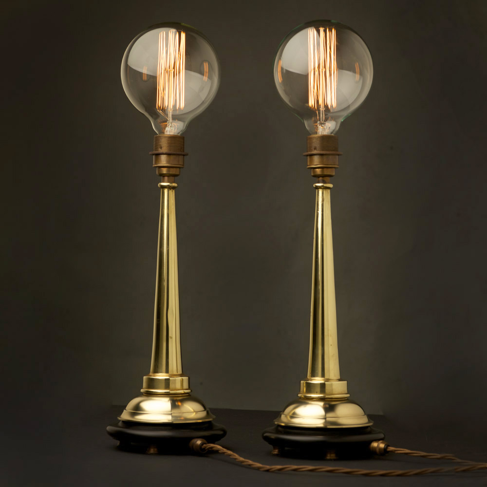 Small Brass Firehose Nozzle Table Lamp